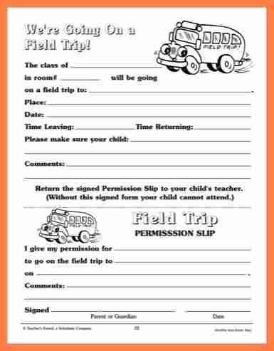 field trip permission slip template 6 field trip permission slip salary slip