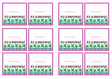 luau  tags birthday printable