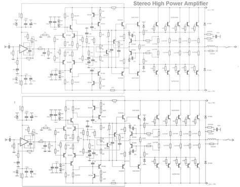 Stereo High Power Audio Amplifier Diy Circuit