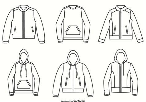 jackets hoodies  sweater outline vector design