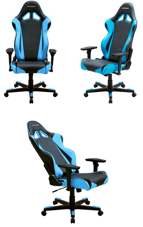 dxr gaming chair blue dxracer r series pc office gaming chair black blue dxr