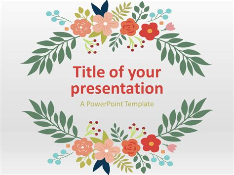 flowers   powerpoint template library