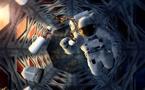 Asteroid Astronaut Beer Wallpaper - Pics about space