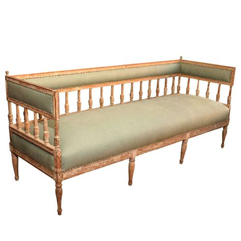 Gustavian Settee by Early 19th Century Gustavian Settee For Sale At 1stdibs
