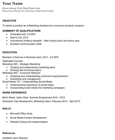 What Is Objective For Resume by What A Resume Should Look Like Best Template Collection