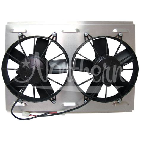 dual electric fans with shroud northern factory dual 10 quot electric fan shroud 14 7 8 x