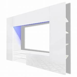 Tv Wand Weiß : der hochglanz mediawand wohnwand led tv wand wei 169 2 cm online shop ~ Sanjose-hotels-ca.com Haus und Dekorationen