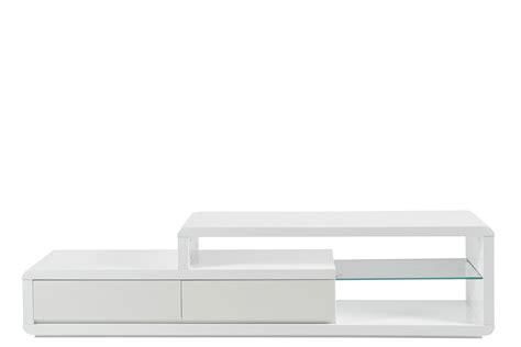 bureau professionel meuble tv blanc laqué 180cm mykaz