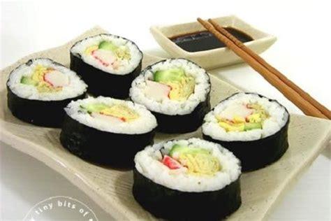 karas crab  cucumber sushi recipe sparkrecipes