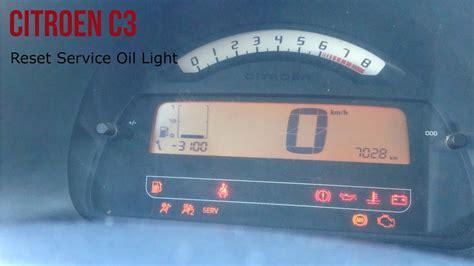 Citroen Service by Citroen C3 Reset Service Light