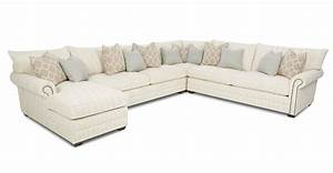 Traditional sectional sofa with nailhead trim and chaise for Gray sectional sofa with nailhead trim