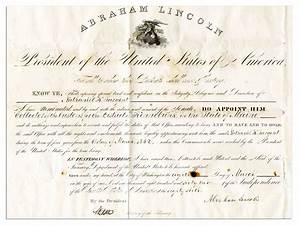 lot detail abraham lincoln document signed during the With documents on the civil war