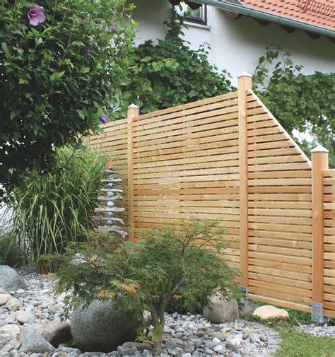 Sichtschutz Garten Lerche by Gartenzaun Aus L 228 Rchenholz Laerche Sichtblenden