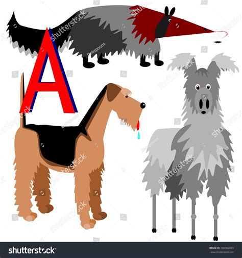 animals that start with the letter i anteater airedale alpaca illustration animals that stock 7386