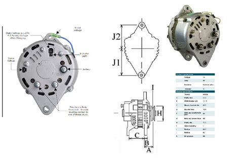 New Amp Alternator For Yanmar Marine