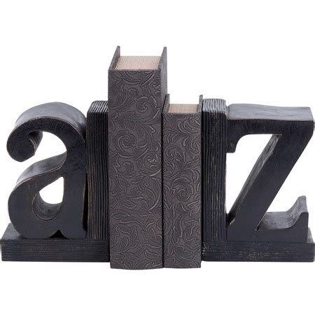 A to Z Bookends Leather