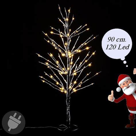 Illuminazioni Natale by Albero Di Natale Innevato Con Led Da Esterno Alto 90 Cm