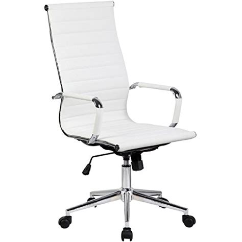 white office chair with arms 2xhome white modern high back ribbed pu leather