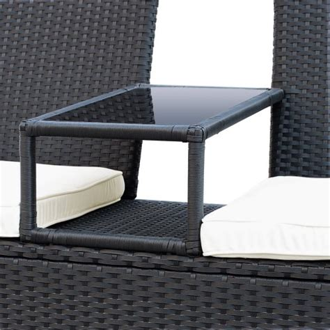 canapé avec bibliothèque intégrée miadomodo canapé de jardin en résine tressée avec