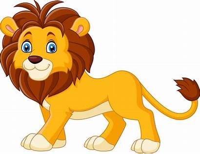 Lion Cartoon Vector Lions Animated Animals Background