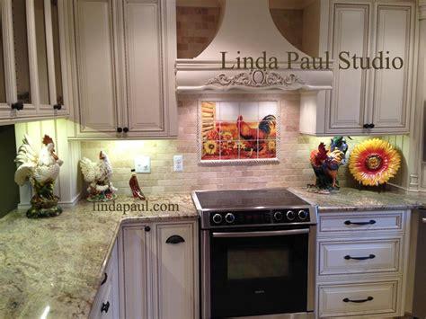 country kitchen backsplash ideas rooster kitchen decor backsplash with sunflowers tile