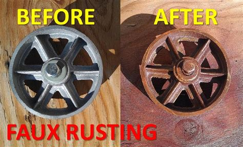 rust paint spray faux rusted finish colored fake job diy projects