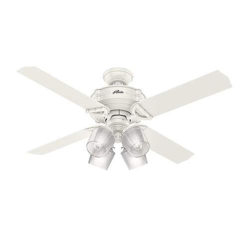 52 white ceiling fan with remote control hunter brunswick 52 in led indoor fresh white ceiling fan