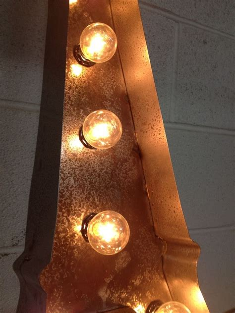 hand crafted vintage metal letter light eiffel tower sign