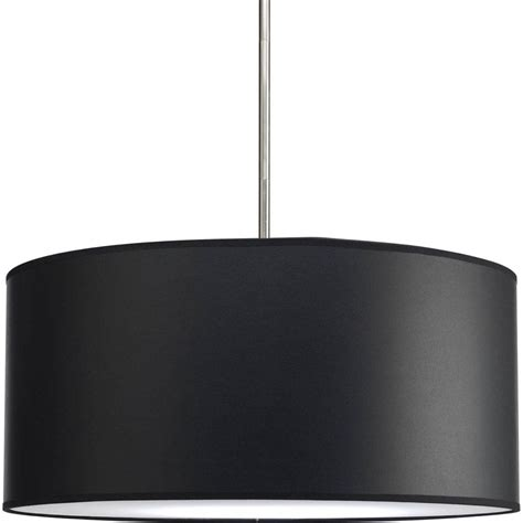 black drum shade chandelier light fixtures design ideas