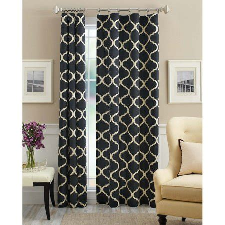 Walmart Drapes And Curtains - mainstays canvas iron work curtain panel walmart