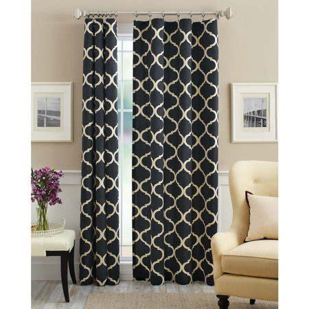 Wal Mart Drapes - mainstays canvas iron work curtain panel walmart