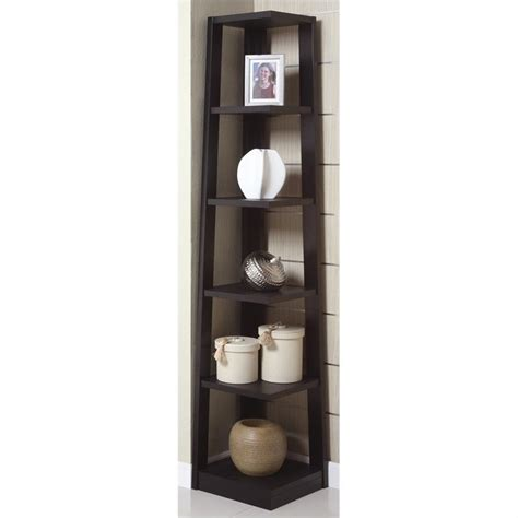 2 door with shelves poundex corner bookcase in black f4615