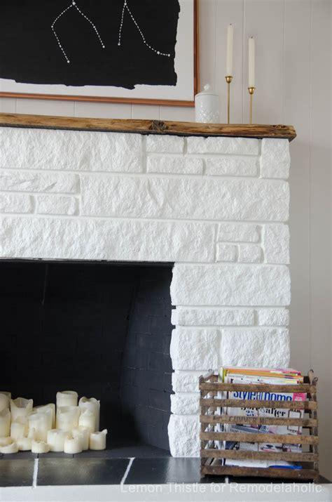 remodelaholic diy stone fireplace update   edge