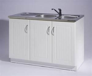 meuble de cuisine sous evier 3 portes maison et mobilier With meuble sous evier 3 portes