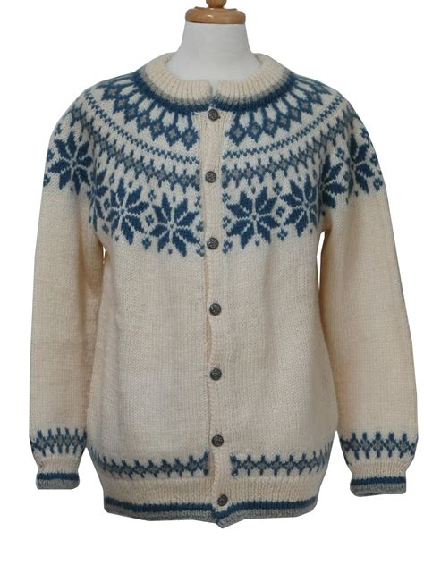mens patterned sweaters vintage dale of 1980s caridgan sweater late 80s or