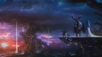 Warcraft Background Wallpapers Traveler Traveller Wall