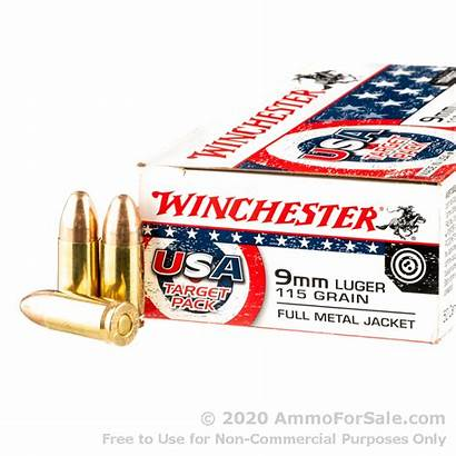 9mm Ammo Winchester Rounds Fmj 115gr Target