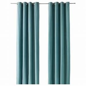 Ikea Rideaux Occultants : sanela rideaux 1 paire turquoise clair 140 x 300 cm ikea ~ Teatrodelosmanantiales.com Idées de Décoration