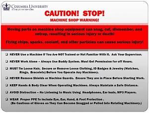 Machine Shop Safety Rules Carleton Laboratory Website