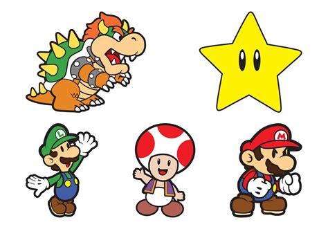 Super Mario Characters Download Free Vectors Clipart