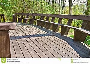 Composite Deck Bench Designs Wood Deck Design With Bench Stock Image Image Of Board