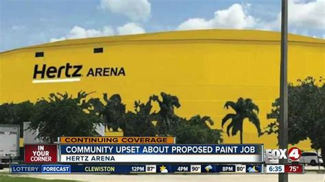 hertz arena paint color meeting fox 4 now wftx fort myers cape coral