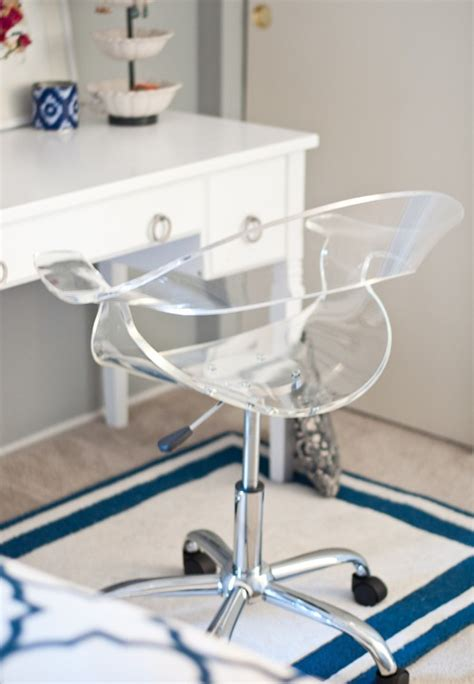 Clear Acrylic Desk Chair by Navy Coral Bedroom Centsational