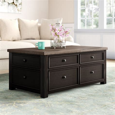 › grey square coffee table. Canora Grey Edmore Coffee Table with Storage & Reviews | Wayfair