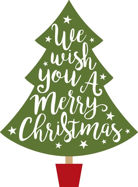 Download for the svg file. Wish You A Merry Christmas Tree SVG Cut File - Snap Click ...
