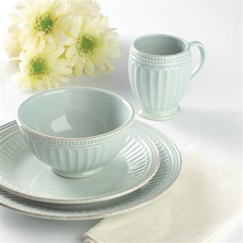 lenox french perle groove  piece place setting white dinnerware sets afrikamartcom