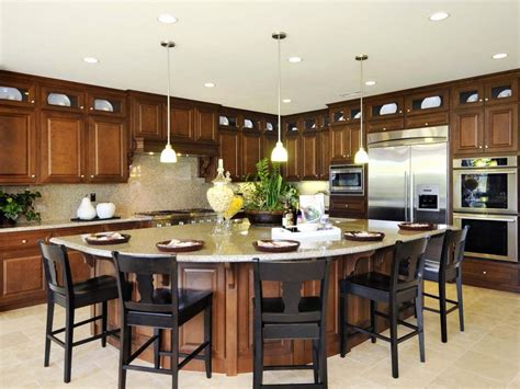 large kitchen islands with seating for 6 kitchen kitchen island ideas with seating small kitchen 9878
