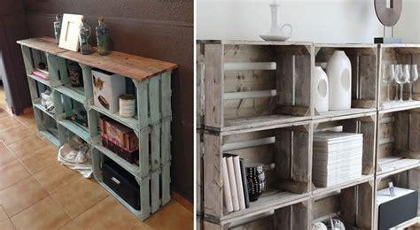 estanteria de cajones de fruta reciclados house en