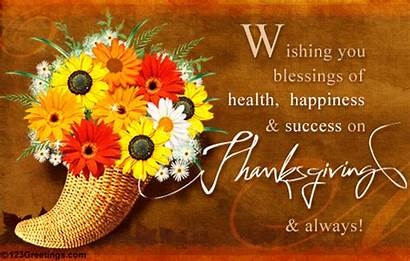 Wishing Thanksgiving Health Blessings Happiness Success Happy