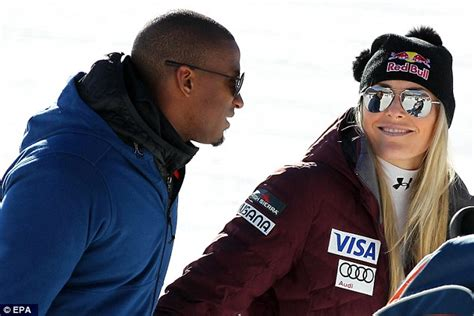 lindsey vonns boyfriend cheers   return  skiing